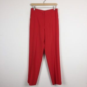 Vintage high waisted red red pleated mom pants